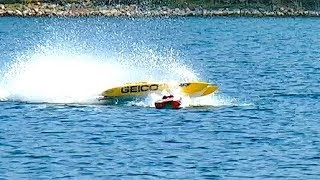 Download BRUTAL COLLISION RC POWERBOAT SPEEDBOAT CRASH AT 150 KMH (94 MPH) INCREDIBLE INCIDENT Video