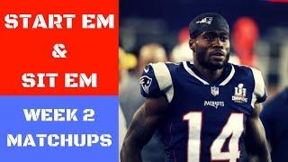 Download NFL Week 2 Start Em and Sit Em Matchups | Fantasy Football 2017 Video