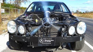 Download See Thru Car on Nitrous Races C43 AMG (Weight Reduction or Power ?) Video