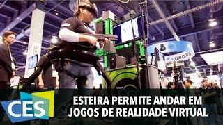 Download ESTEIRA PERMITE ANDAR EM JOGOS DE REALIDADE VIRTUAL #CES2016 Video