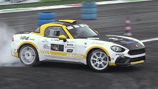 Download Abarth 124 Rally R-GT In Action at Monza Rally Show 2016 Video