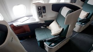 Download First Time UPGRADED to BUSINESS CLASS on Cathay Pacific Airlines to Hong Kong Video