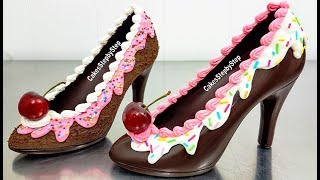 Download How To Make a CHOCOLATE HIGH HEEL SHOE / Tempered Chocolate & Royal Icing by Cakes StepbyStep Video