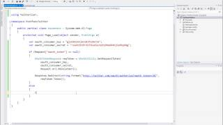 Download Authorize and Post on Twitter using Twitterizer ASP C# Video