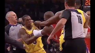 Download Brandon Ingram, Chris Paul, Rajon Rondo BRAWL in Lakers-Rockets Video