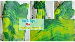 Download DIY Dupatta | Tie & Dye Latest Design On Chiffon Dupatta(తెలుగు) Video
