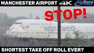 Download Shortest take off roll ever? Take Off Clearance Cancelled at last moment. Manchester Airport. Video