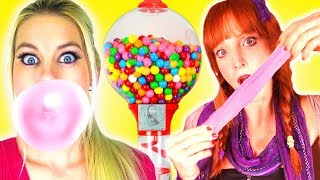 Download We Make Bubble Gum!!! Easy DIY How To Make Gumballs & Awesome School Hacks! Video