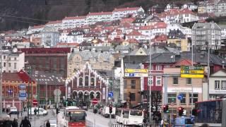 Download Bergen Norway in winter 4K Video
