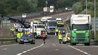 Download Two lorry drivers jailed over fatal M1 crash Video