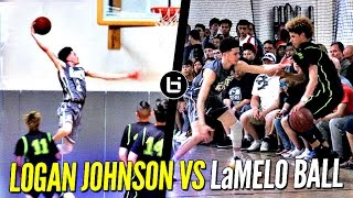 Download Logan Johnson vs. LaMelo Ball - Lopsided Game Gets Heated! Tyler Johnson's Younger Bro (Miami Heat) Video
