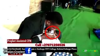Download Prophet Vomits Miracle Dollars Live For Broke Church Members In South-Africa - Divine ATM Machine Video