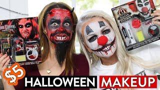 Download TRYING $5 HALLOWEEN MAKEUP KITS!! Video