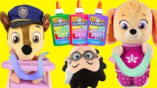 Download 3 Colors of Glue Slime Challenge with Paw Patrol and PJ Masks Romeo Video
