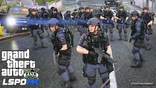 Download LSPDFR #434 - SWAT W/ RIOT SHIELDS! SWAT POLICE PATROL!! (GTA 5 REAL LIFE POLICE MOD) Video
