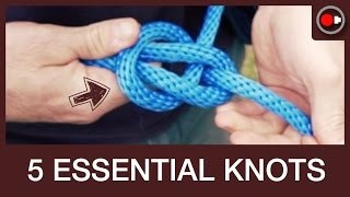 Download 5 OUTDOORSMAN KNOTS - Truckers Hitch, Bowline, Tautline, Prusik, Chain Sinnet Video