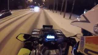 Download #26 ATV riding in city: Snow drift on CFMOTO X8 Video