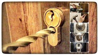 Download Jak rozwiercić wkładkę zamka w drzwiach? Awaryjne otwieranie drzwi bez klucza Video