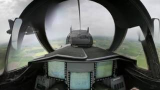 Download 360 video with Gripen pilot Video