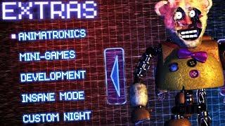 Download EXTRAS MENU AND SECRET ANIMATRONICS!    FredBear's Fright (Five Nights at Freddys) Video