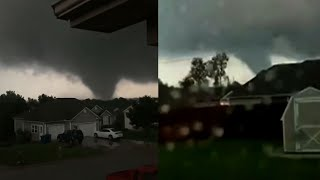 Download Tornado damage near Joplin, Missouri Video