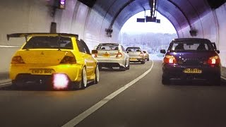 Download Mitsubishi Evo tunnel run - LOUD sounds and Accelerations Video