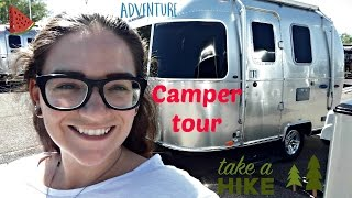 Download 2017 Airstream Sport Bambi (micro!) camper TOUR : super tiny! Solo Full Time camper living? Video