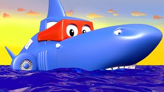 Download Carl the Super Truck - The SHARK TRUCK - Car City & Monster Town ! Cars and Trucks Cartoon for kids Video
