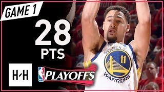 Download Klay Thompson Full Game 1 Highlights Warriors vs Rockets 2018 NBA Playoffs WCF - 28 Points! Video