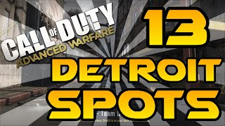 Download 13 Detroit Spots & Glitches! - Advanced Warfare (Lines of Sight, Jumps, Infected & Hiding Spots) Video