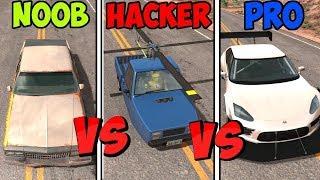 Download BeamNG Drive - Noob VS Pro Vs Hacker #2 (Crashes & Stunts) Video
