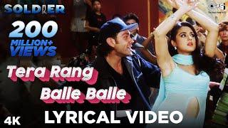 Tera Rang Balle Balle Lyrical Soldier , Bobby Deol & Preity Zinta , Jaspinder Narula & Sonu Nigam
