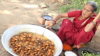 Download Grandma's Village Style Prawns Curry with Roti || Myna Street Food || Food Info Video