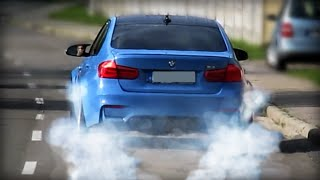 Download BMW M3 (F80) -LAUNCH CONTROL BURNOUT on the street! Video