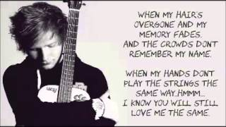 Download Thinking Out Loud by Ed Sheeran LYRICS Video