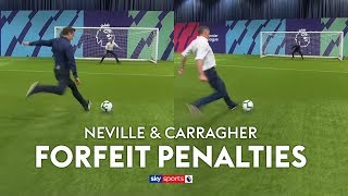 Download Neville & Carragher play FORFEIT Penalties (loser wears rival club's shirt) 😅 Video