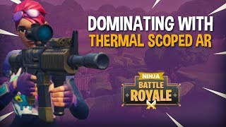 Download Dominating With New Thermal Scoped AR!! - Fortnite Battle Royale Gameplay - Ninja & Daequan Video