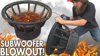 Download Blowing $8000 Worth of SUBWOOFERS!?! The BIGGEST Subwoofer BLOWOUT EVER w/ Rare 18″ SPEAKER BLOWOUTS Video