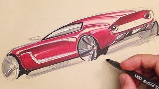 Download Car Sketching with Markers (Surprise!) Video