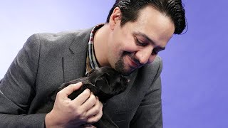 Download Lin-Manuel Miranda Plays With Puppies While Answering Fan Questions Video