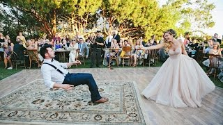 Download Bride puts a spell on her magician groom during first dance Video