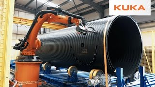 Download Gigantic Plastic Pipes Milled with KUKA Robots in the UK Video