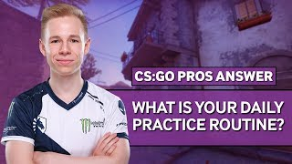 Download CS:GO Pros Answer: What Is Your Daily Practice Routine? Video