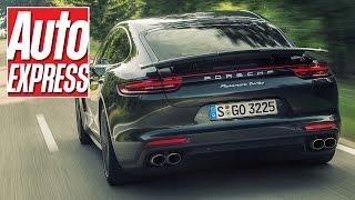 Download 2016 Porsche Panamera review: on the road in new Stuttgart 'Bahn-stormer Video