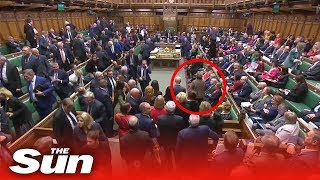 Download Moment MPs 'snub' the SNP as they walk out of Commons Video