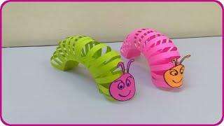 Download عمل دودة من الورق للاطفال - صنع دودة بالورق - اشغال يدوية Video