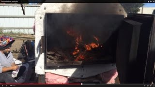Download Gasification boiler burning tire Video