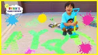 Download Ryan Chalk Painting Messy Fun!!! Video