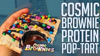 Download Cosmic Brownie Protein Pop Tart! | Only 150 Cals!! Video
