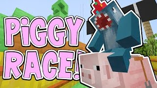 Download Minecraft Xbox - PIGGY RACE!! - Building Time [#75] Video